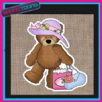 CUTE BEAR DESIGN JUTE  SHOPPING LADIES GIFT BAG 003